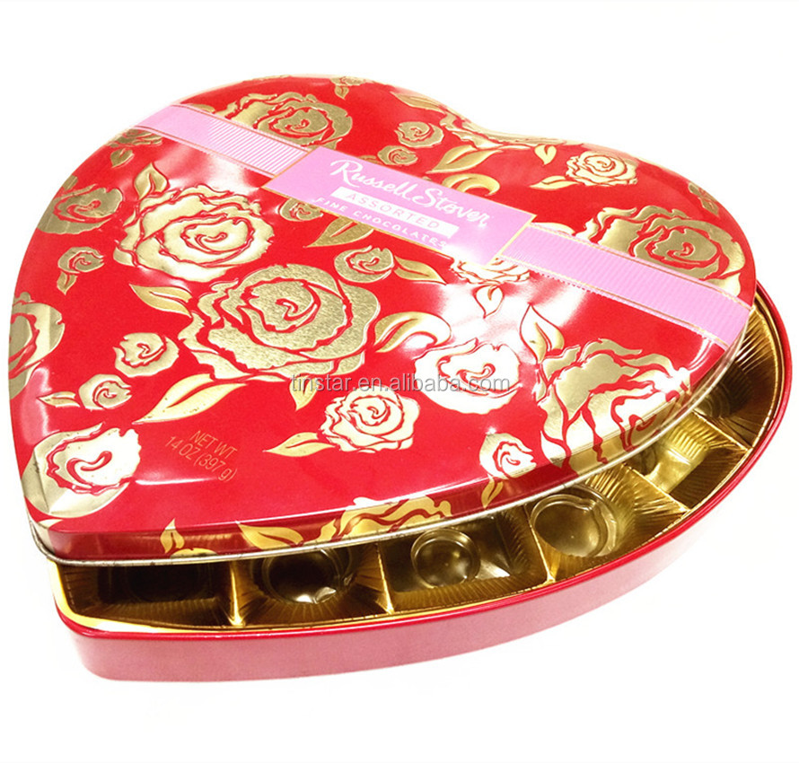 Recycle Christmas chocolate metal tin box