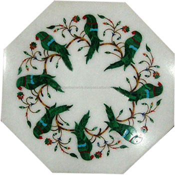 Marble Coffee Table Top Inlay Decor
