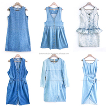 Retro 80s Denim Dress Wholesale from Bangkok Thailand