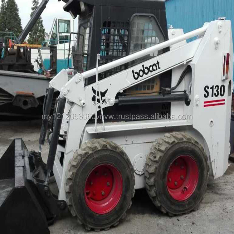 Cheap sale used wheel loader bobcat s130 small front loader for sale