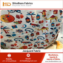 Garment Polyester Digital Print Jacquard Fabric