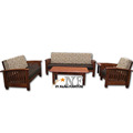 Simple Style 5 Seater Wooden Sofa Chair Living Room Home Furniture