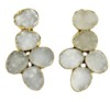 Natural White Druzy Earring 24k Gold Plated Earring Wholesale from Jaipur