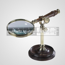 Brass Authentic Models with Stand magnifying glass
