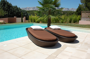 Outdoor/ Resort/ Hotel/ Pool Side Used Furniture Poly Rattan Sunlounger/Beach Chair