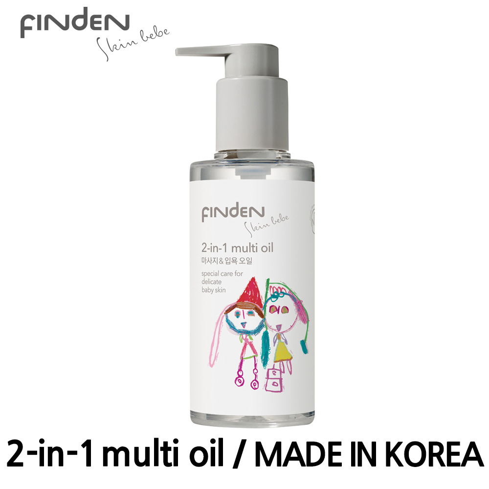 Korean Beauty Baby's Massage & Bath oil for Baby Body Moisturizing Massage Finden Skinbebe 140ml