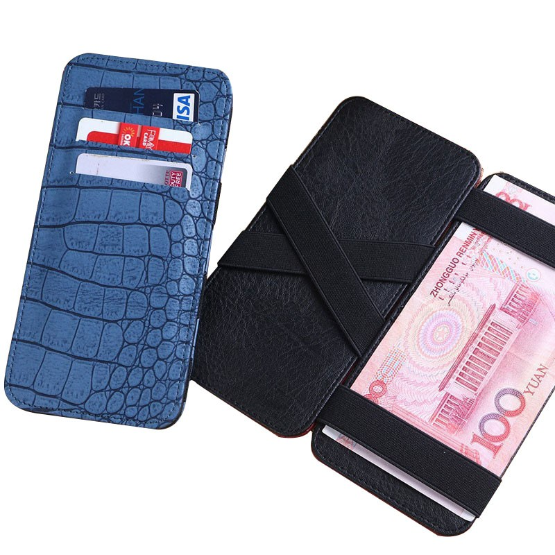 Wholesale pu leather ID credit card business card holder with 6slots