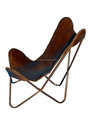 Royal Brown Leather Butterfly Chair