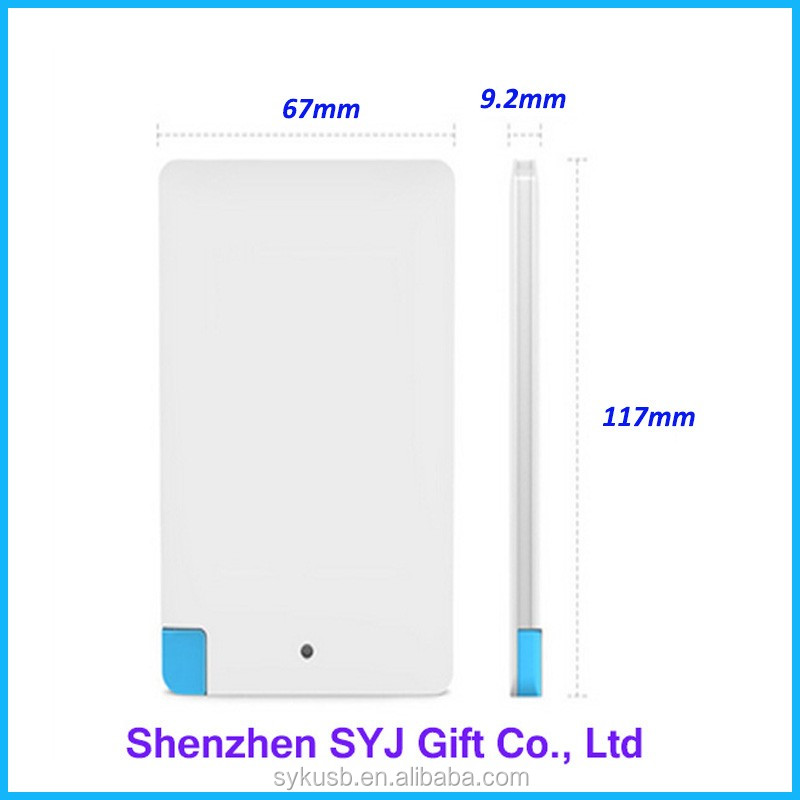Manufacturer White 4000mAh Mobile Phone Charger Ultra Slim Power Bank