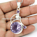 Best gift design silver pendant jewelry multi gemstone 925 sterling silver pendants jewellery manufacturer