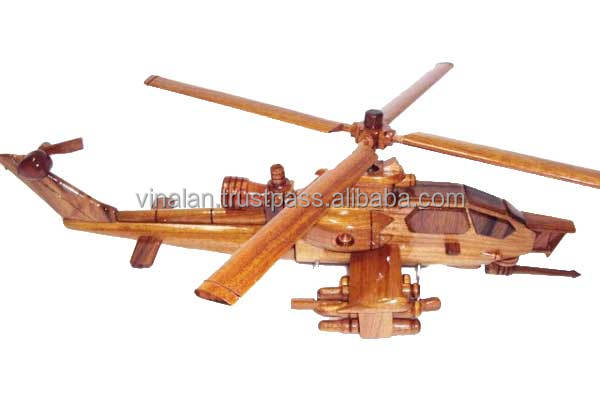 Hand carved Apache AH-1 Cobra Wooden Helicopter New model