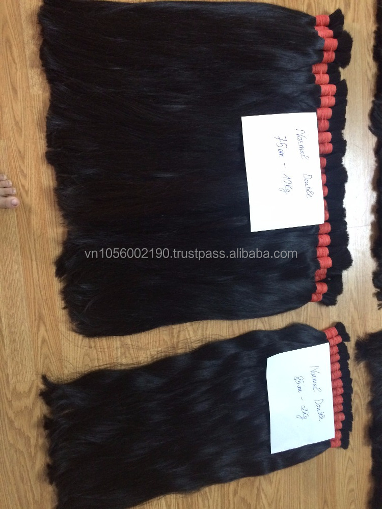 Natural color black hair human virgin and remy high quality Viet Nam hair 70 cm