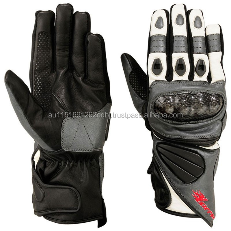 LEATHER GLOVES MOTORCYCLE - MOTORBIKE SAFETY GLOVES