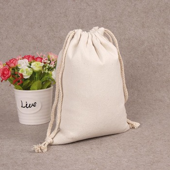 custom printed Cotton drawstring jute tote