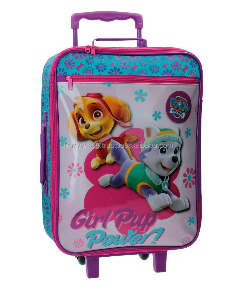 Travel suitcase Trolley for kids Paw Patrol 50cm 2 wheels