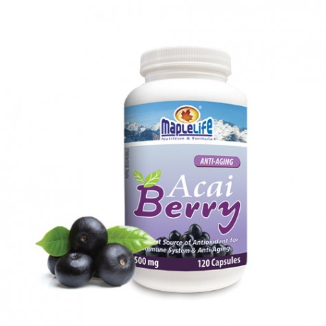 PRIVATE LABEL 120 CAPSULES 550 MG ACAI BERRY POWDER FOR WEIGHT LOSS