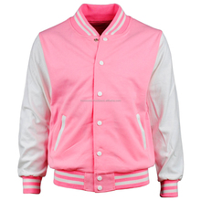 Sportswear Varsity Wholesale Plain Bomber Sweatshirts Slim-Fit Baseball Jackets