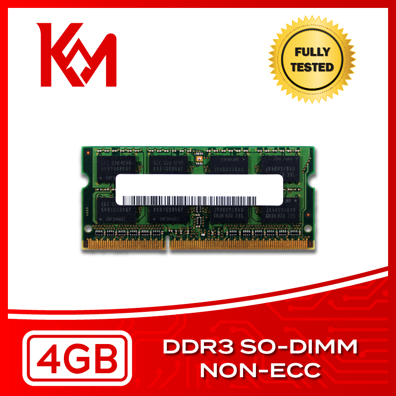 Laptop Memory 4GB DDR3 NON-ECC SO-DIMM RAM 1066Mhz, 1333MHz, 1600MHz, 1866MHz