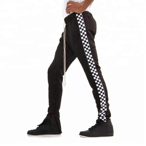 High Quality Customized Racing Poly Side Adjuster Trousers Super Slim Casual Track Pants Men