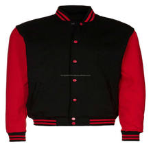 Factory supply Red black varsity jackets