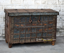 Indian colorful Reclaimed Recycled Furniture, Indian recycle trunk box by JODHPUR TRENDS RETRO Furniture INDIA