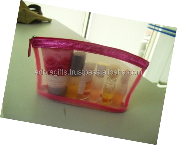 eco recycled cheap wholesale custom transparent waterproof promotion plastic zipper clear pvc toiletry cosmetic bag