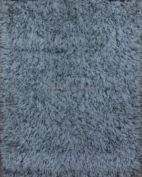 Silver Black Color Indian Shaggy Rug C 164 Buy Polyester Shaggy