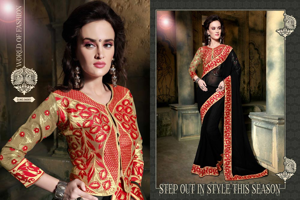 new patch net work saree collection