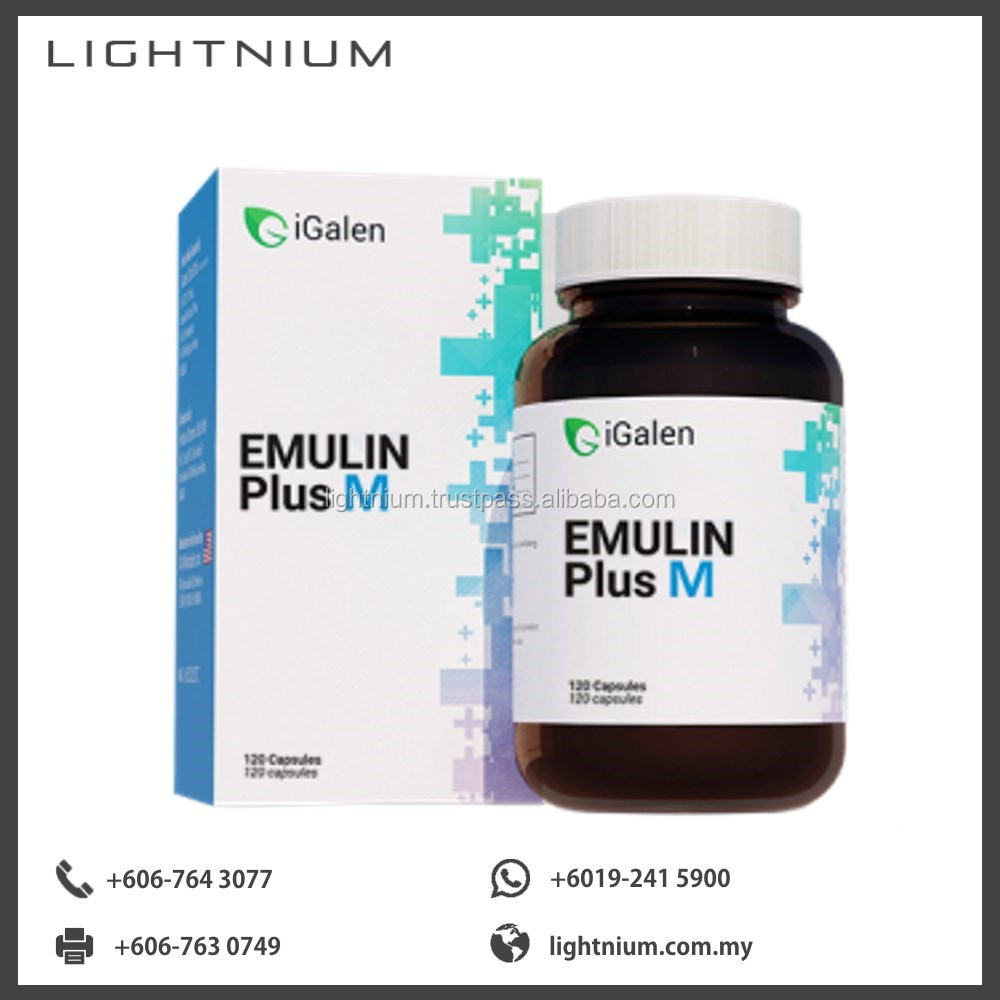 Emulin Plus M Nutritional Health Food Natural Supplements and Vitamins (The Manager)