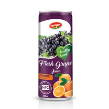 Heart healthy Grape juice with Orange flavor Fruit juice Suppliers canned 250ml
