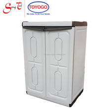 Plastic waterproof durable high quality cabinet with swing doors (608-1)
