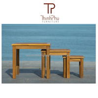 New Wood Side Table in Acacia wood - Garden furniture from Vietnam