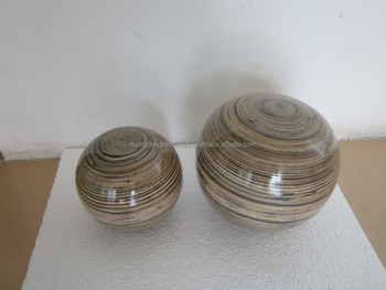 bamboo ball with multicolor, vietnam lacquer round ball/ bam boo for decration