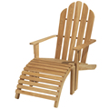 Teak Adirondack Chair - Relax Furniture with foot stool
