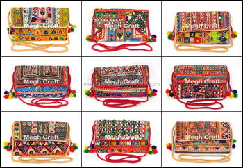 Designer Rajasthani Traditional Ethnic Clutch - Vintage banjara gujarati clutch bags-Indian Ladies Clutch Hand Bags