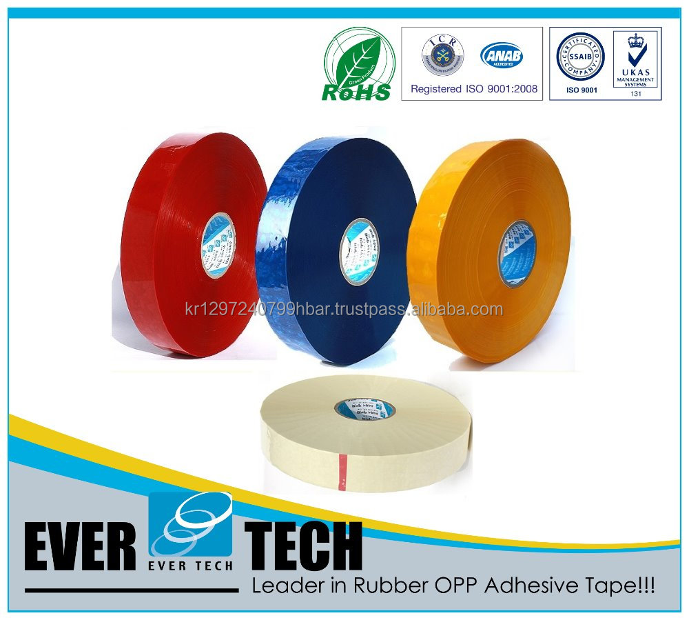 Best Performance & EXPORT Quality Machine Roll Solvent Rubber OPP Adhesive Tape