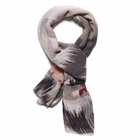 Ladies Pleated Scarf With Patterns Elegant Shawl Stole Soft Wrap Plaid Geometric Abstract Patterned Scarves Fashion Accessories