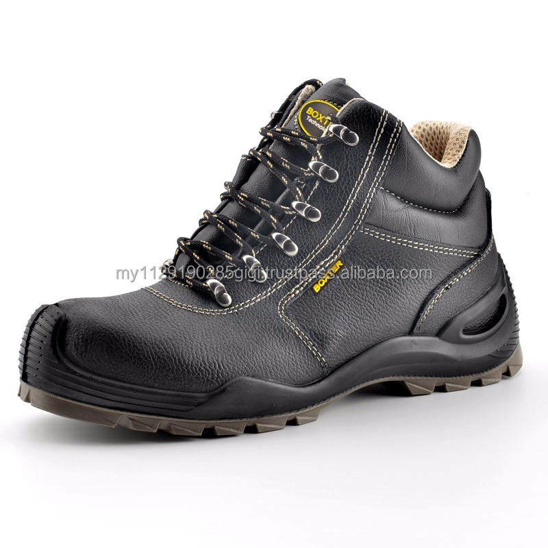 Malaysia factory safety shoe manufacturer, Stain-steel toe cap leather safety shoes,Robust Design Safety Shoes (SIZE: 3-13 UK)