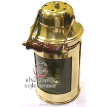 Nautical Decorative Ship Lantern, Brass Hanging Lantern