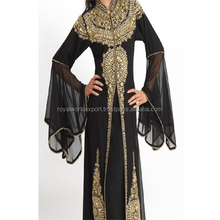 2017 Best Popular Moroccan Kaftan Long Sleeve dubai Work Muslim Women Long Dress Abaya Kaftan Wedding Wear Dress