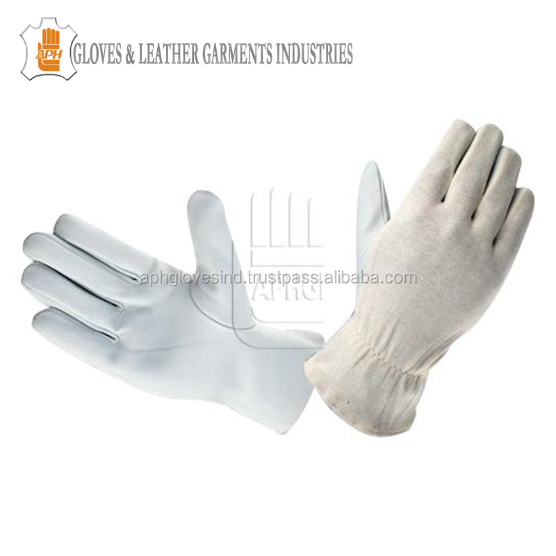 Unlined Grain Cowhide Leather Assembly Gloves