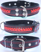embroidered leather dog collars hand made leather dog collar purple leather dog collar dog collar with handle leather braided le