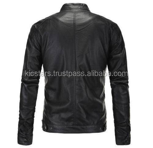 mens black real leather jacket