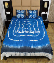 Indian Bedspread Queen multi Shibori Bed Cover With Pillow Cover Bohemian Cotton tie dye bedding set