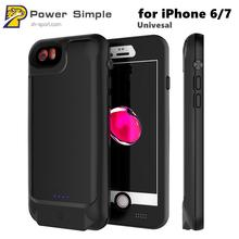 Power Bank Rechargeable Protective Battery Charging Waterproof Phone Case for iPhone 7 6 Universal
