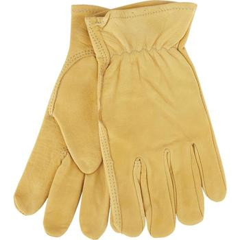 Cow Grain Leather Truck Driving Gloves