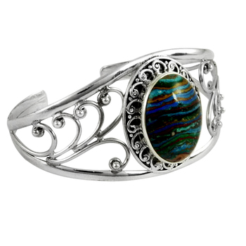 Bridal bangle rainbow calcilica gemstone silver jewelry 925 sterling silver bangles jewellery exporters