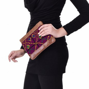 Indian Handmade Vintage Clutch Ethnic Embroidered Handbag Leather Woman Bags Evening Handbags