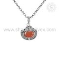 Splendid red carnelian gemstone designer pendant 925 sterling silver pendants jewelry supplier