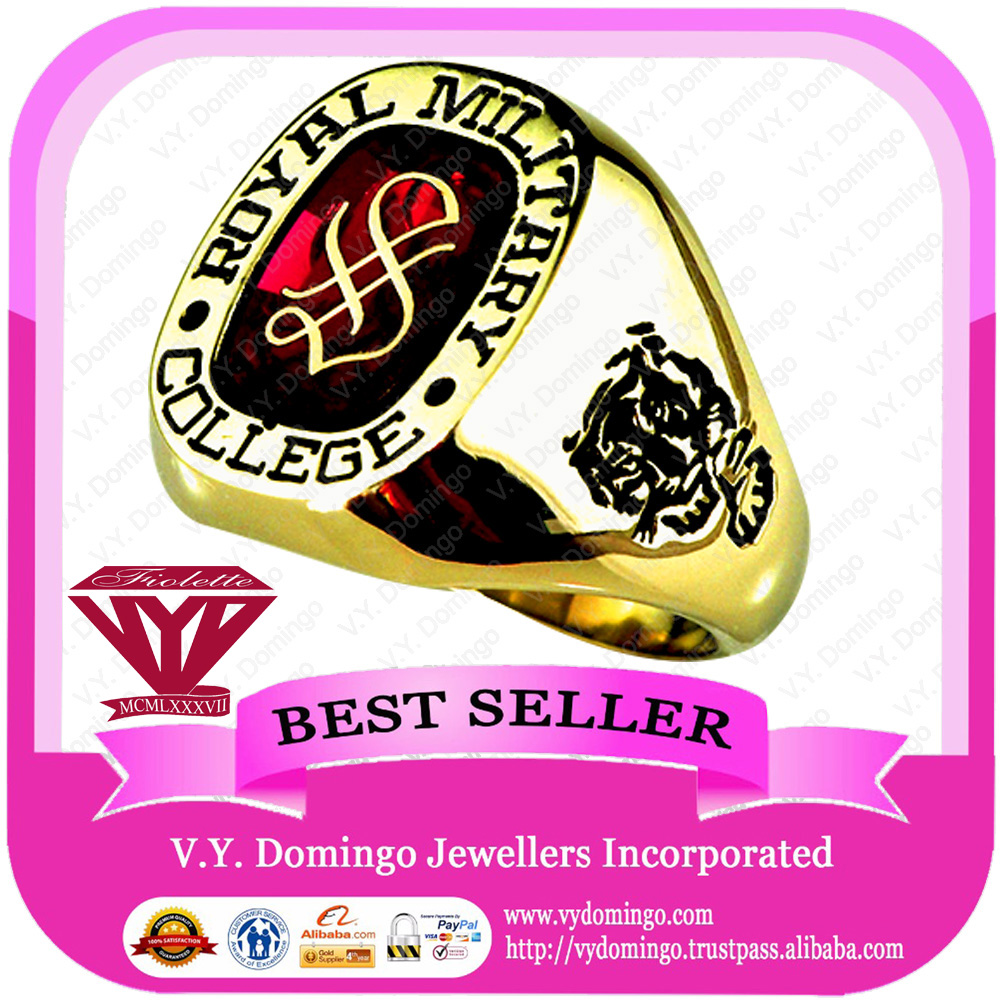 24KYG Customized Royal Wholesale Military College Ring